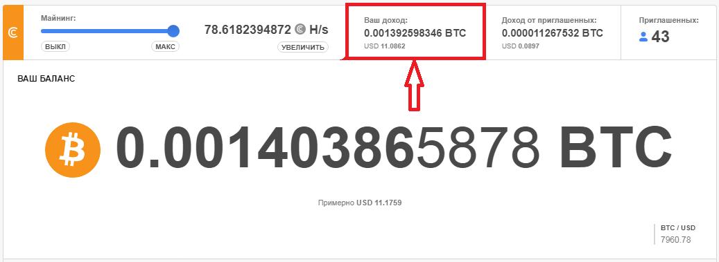 Ваш доход на Crypto Tab